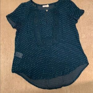 Teal blouse- perfect for the office!